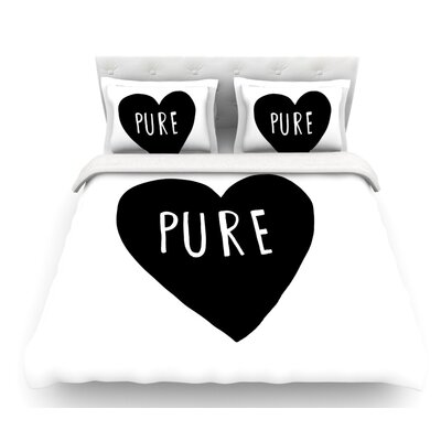 Pure Heart by Leah Flores Featherweight Duvet Cover Size: Twin