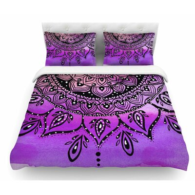 Mandala by Li Zamperini Featherweight Duvet Cover Size: Queen