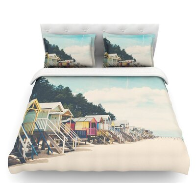 Small Spaces by Laura Evans Beach Coastal Featherweight Duvet Cover Size: King