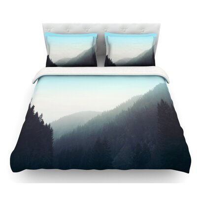 Wilderness by Leah Flores Mountain Range Featherweight Duvet Cover Size: Twin