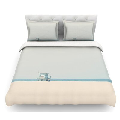 Tower 17 by Laura Evans Coastal Featherweight Duvet Cover Size: King
