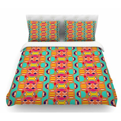 Summer Fun by Miranda Mol Treal Featherweight Duvet Cover Size: King