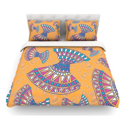 Tribal Fun by Miranda Mol Abstract Featherweight Duvet Cover Color: Pink, Size: Twin