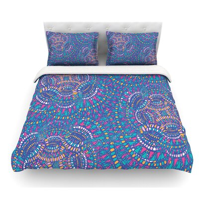 Kaleidoscopic by Miranda Mol Featherweight Duvet Cover Color: Blue, Size: Queen