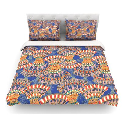 Energy by Miranda Mol Abstract Featherweight Duvet Cover Size: Queen