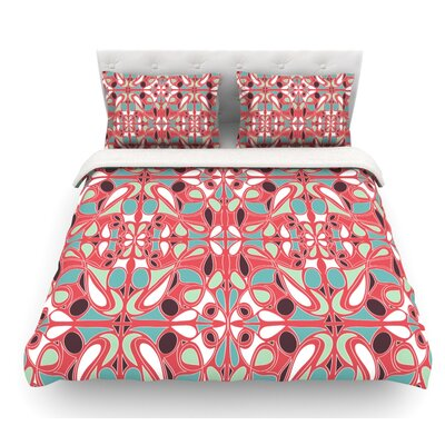 Stained Glass by Miranda Mol Featherweight Duvet Cover Size: King, Fabric: Lightweight Polyester