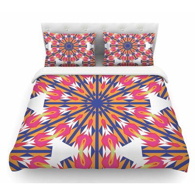 Modern Dutch Tulips by Miranda Mol Indigo Featherweight Duvet Cover Size: Queen