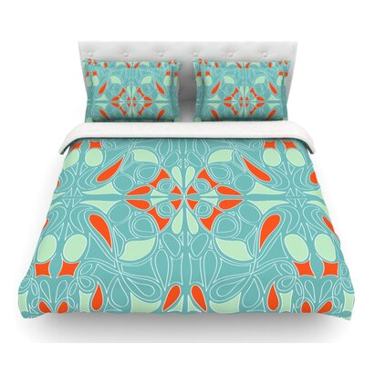 Seafoam by Miranda Mol Featherweight Duvet Cover Size: Queen, Fabric: Lightweight Polyester