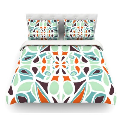 Stained Glass by Miranda Mol Featherweight Duvet Cover Size: Queen, Fabric: Cotton