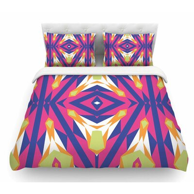 Tulip Tribal by Miranda Mol Featherweight Duvet Cover Size: King