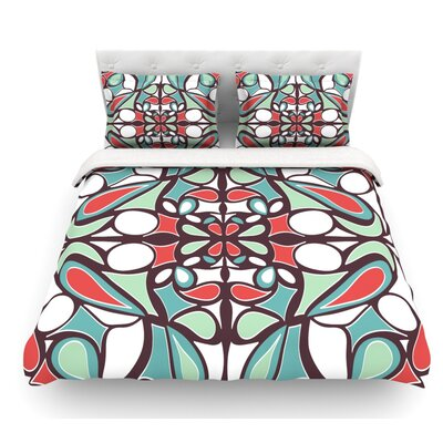 Round Tiles by Miranda Mol Featherweight Duvet Cover Size: Queen
