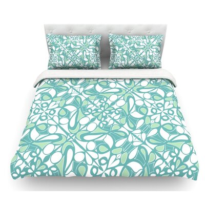 Swirling Tiles by Miranda Mol Featherweight Duvet Cover Size: Queen