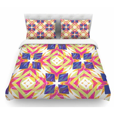 Dancing Tiles by Miranda Mol Indigo Featherweight Duvet Cover Size: Twin