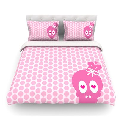 Skull by Nick Atkinson Featherweight Duvet Cover Size: Twin