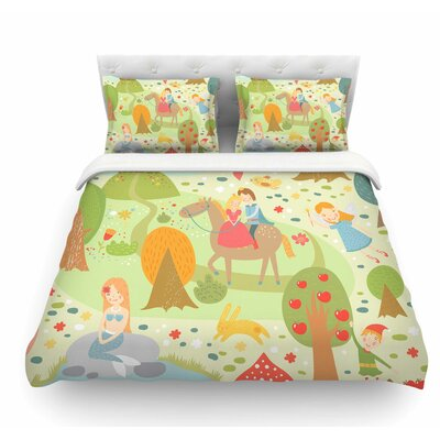 Fairy Tale by Petit Griffin Fantasy Illustration Featherweight Duvet Cover Size: King