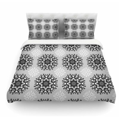 Princess by Nika Martinez Featherweight Duvet Cover Color: Black/White/Gray, Size: King