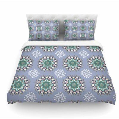 Princess by Nika Martinez Featherweight Duvet Cover Color: Purple/Green, Size: King