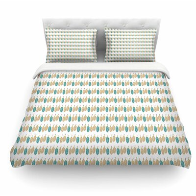 Petit Griffin Featherweight Duvet Cover Color: Green, Size: Queen