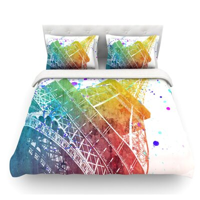 Paris Je Taime by Nika Martinez Featherweight Duvet Cover Size: Twin
