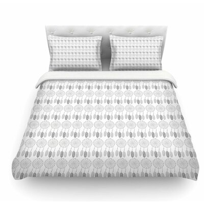 Dreams by Petit Griffin Featherweight Duvet Cover Color: Gray, Size: Twin