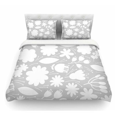 Leaf by Petit Griffin Digital Featherweight Duvet Cover Size: Queen