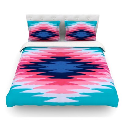 Surf Lovin II by Nika Martinez Featherweight Duvet Cover Size: Queen, Fabric: Lightweight Polyester