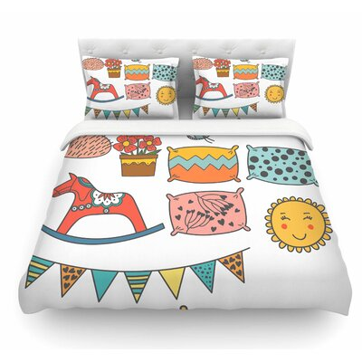 Room by Petit Griffin Pastel Featherweight Duvet Cover Size: King