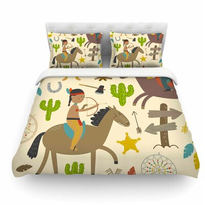 Tipi by Petit Griffin Kids Featherweight Duvet Cover Size: Queen