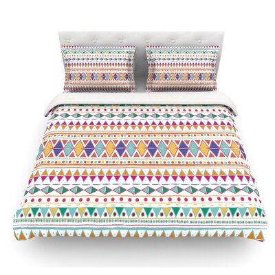 Native Fiesta by Nika Martinez Featherweight Duvet Cover Size: Queen