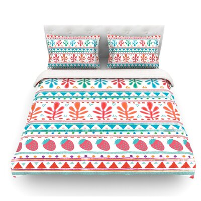 Spring Strawberries by Nika Martinez Featherweight Duvet Cover Size: Twin