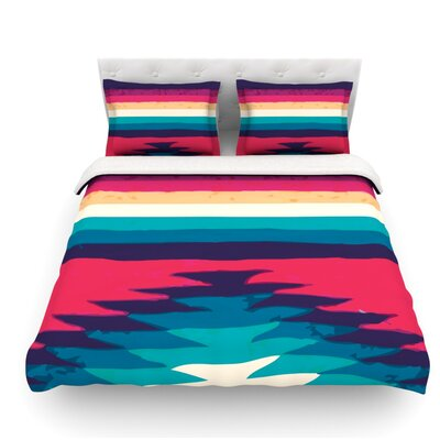 Surf by Nika Martinez Featherweight Duvet Cover Size: Twin