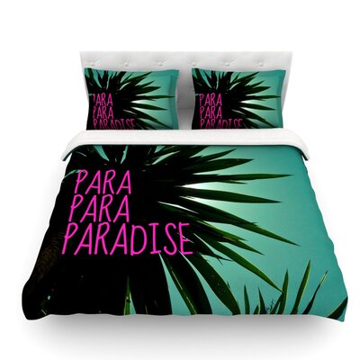 Exotic Paradise by Nika Martinez Featherweight Duvet Cover Size: King, Fabric: Woven Polyester