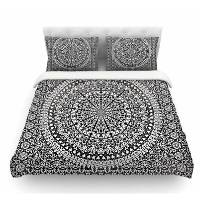 Mandala Bandana by Nika Martinez Abstract Featherweight Duvet Cover Size: Queen