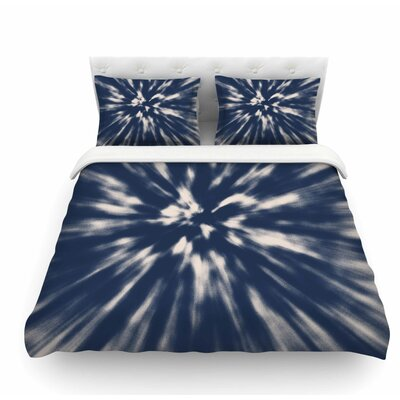Indigo Tie Dye by Nika Martinez Urban Featherweight Duvet Cover Size: Twin