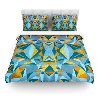 Abstraction by Nika Martinez Featherweight Duvet Cover Color: Blue, Size: King