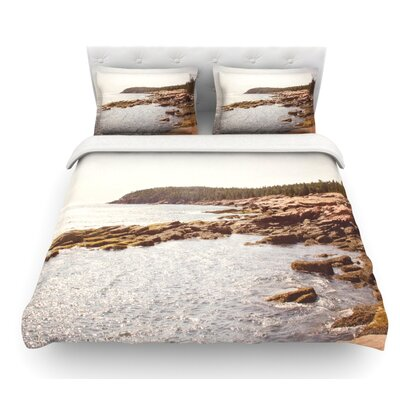 The Maine Coast by Jillian Audrey Coastal Featherweight Duvet Cover Size: King