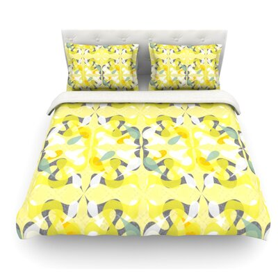 Spring Flourish by Miranda Mol Featherweight Duvet Cover Size: Full/Queen, Fabric: Woven Polyester