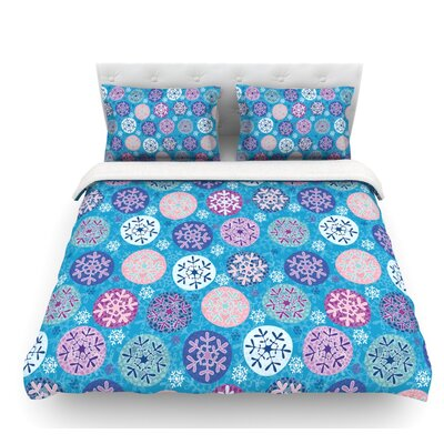 Floral Winter by Julia Grifol Featherweight Duvet Cover Size: Twin