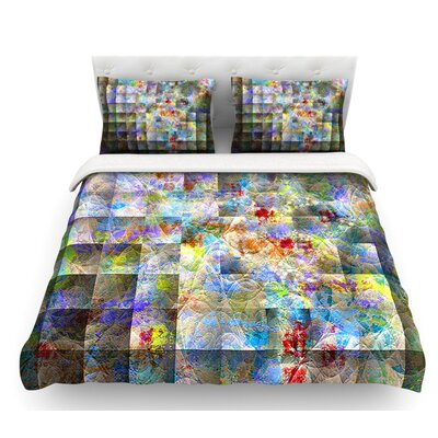 Yggdrasil by Michael Sussna Abstract Featherweight Duvet Cover Size: Twin, Fabric: Woven Polyester