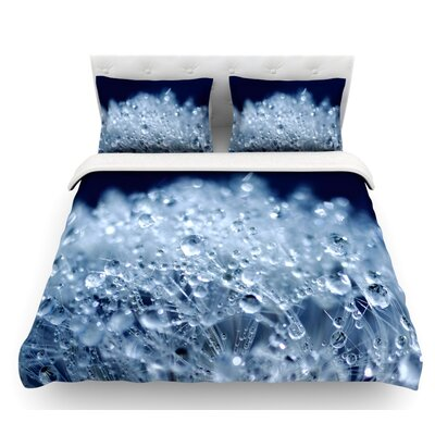 Dandelion Diamonds by Monika Strigel Featherweight Duvet Cover Color: Navy/Blue, Size: King