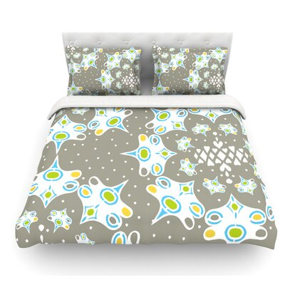 Ornamental Splash by Miranda Mol Featherweight Duvet Cover Size: Twin, Fabric: Lightweight Polyester