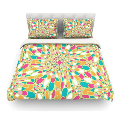 Flourishing by Miranda Mol Featherweight Duvet Cover Color: Green, Size: Queen