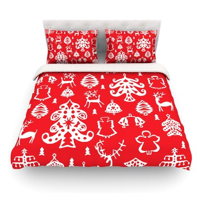 Warm Winter by Miranda Mol Featherweight Duvet Cover Size: Twin, Fabric: Woven Polyester