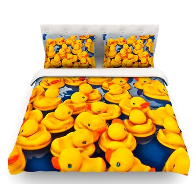Duckies by Maynard Logan Featherweight Duvet Cover Size: King, Fabric: Lightweight Polyester