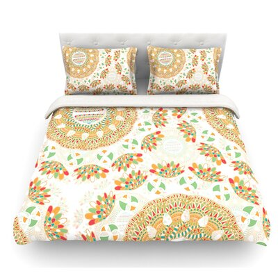 Bohemian Bright by Miranda Mol Geometric Featherweight Duvet Cover Size: King