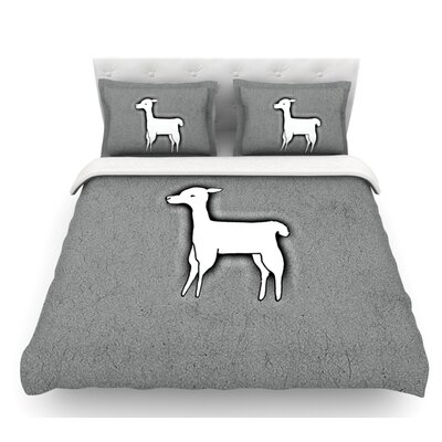Llama One by Monika Strigel Featherweight Duvet Cover Size: Twin