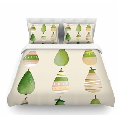 Happy Pears by Judith Loske Featherweight Duvet Cover Size: Queen