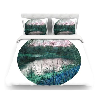 Swamp by Micah Sager Lake Circle Featherweight Duvet Cover Size: Twin, Fabric: Lightweight Polyester