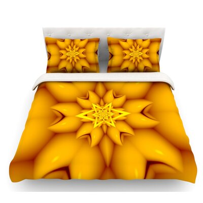 Citrus Star by Michael Sussna Featherweight Duvet Cover Size: Queen, Fabric: Lightweight Polyester