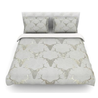 Gilded Stags by Michelle Drew Featherweight Duvet Cover Size: King
